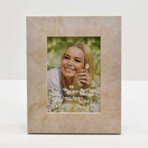 Porta Retrato De Plástico Mármore Bege 13x18cm - 55483