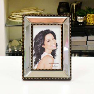 Porta Retrato De Plástico Top Espelhado 10x15cm - 56018