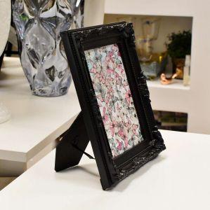 Porta Retrato De Plástico Vintage Preto 13x18cm - 56725