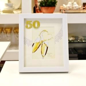 Porta Retrato De Poliestireno Bodas De Ouro 10X15cm - 56361