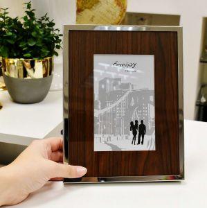 Porta Retrato Enjoy 10x15cm Em Metal Marrom - 56949