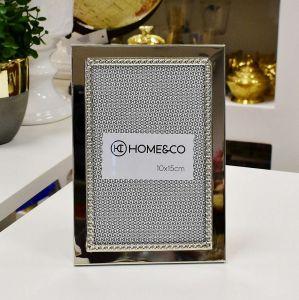 Porta Retrato Home Co Anelise 10x15cm Em Metal Prata Niquelado - 56947