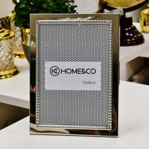 Porta Retrato Home Co Anelise 13x18cm Em Metal Prata Niquelado - 56946