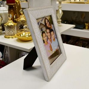 Porta Retrato Listrado Branco 13x18 - 57002