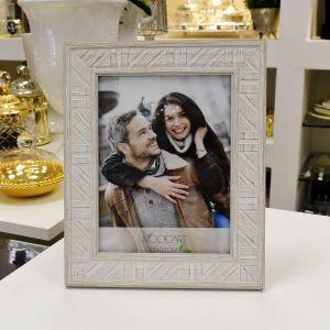 Porta Retrato Listrado Branco 15x21 - 57001