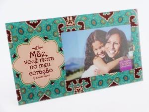 Porta Retrato Mãe, você mora no meu coração 10246