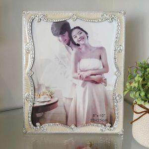 Porta Retrato Perolado Com Strass 20x25cm - 10587