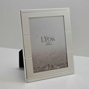Porta Retrato Prata De Aço Ribbon 15x20cm - 58415