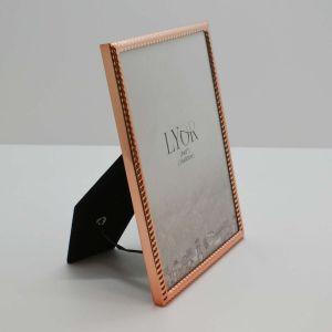 Porta Retrato Rose Gold De Aço Tress 15x20cm - 58412