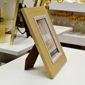 Porta Retrato Rústico De Plástico 10x15 - 56647