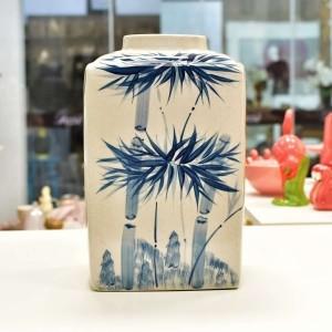 Pote De Cerâmica Com Arte De Bambu - 55364