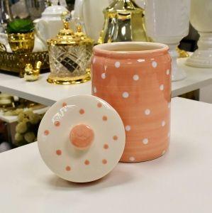 Pote De Porcelana Rosa Poá - 56057