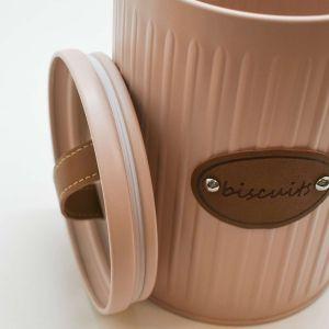 Pote Lata Para Biscoitos Rosa Retrô - 58553