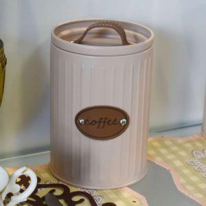 Pote Lata Para Café Rosa Retrô - 58559