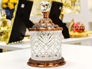 Pote Multiuso Pequeno De Zamac Cristal Cobre - 56359