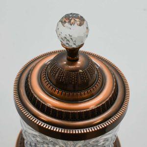 Pote Multiuso Extra Grande De Zamac Cristal Bronze 15x21,5cm - 58403