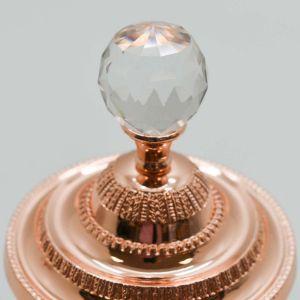 Pote Multiuso Pequeno De Zamac Cristal Rose 10,5x16,5cm - 58418
