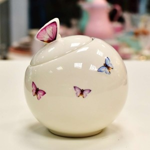 Pote Para Mantimentos Em Porcelana 500 ml Borboletas - 10574