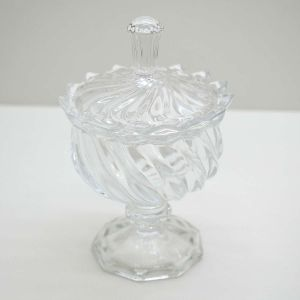 Potiche Decorativo De Cristal Linearis - 57629