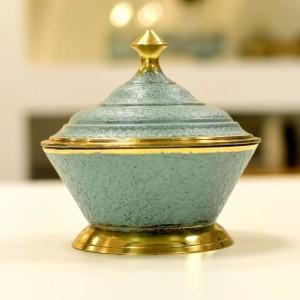 Potiche Em Bronze Com Pátina 13cm Grande - 55716