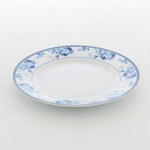 Prato De Sobremesa Azul Em Porcelana Linha Rosa Blue - 53904