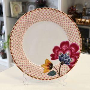 Prato De Sobremesa Branco Floral Fantasy Pip Studio - 53471