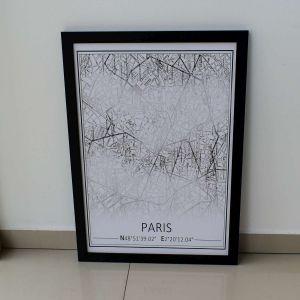 Quadro Em Madeira Paris Preto E Branco - 57848