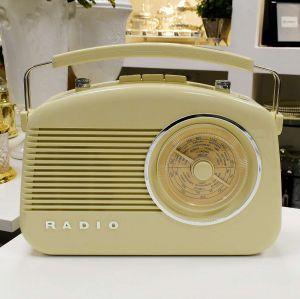 Rádio De Mesa AM/FM Retrô Vintage Branco - 53935