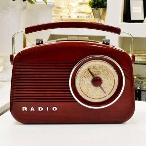 Rádio De Mesa AM/FM Retrô Vintage Vermelho - 56911