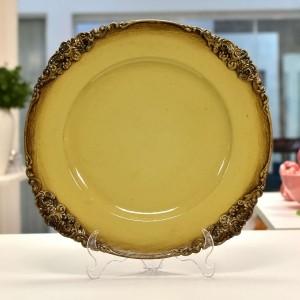 Sousplat De Plástico Provençal Creme E Marrom - 10914