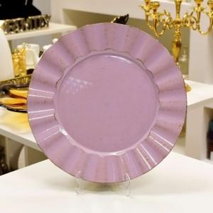 Sousplat Purple and Brown De Plástico Cook - 55631