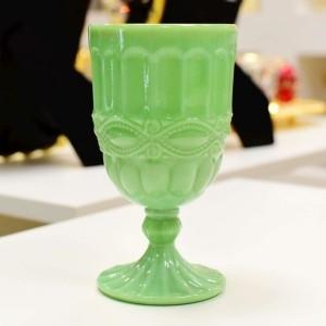 Taça Para Água Opalina Verde - 53093