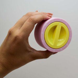Timer Temporizador Rosa Com Amarelo - 57932