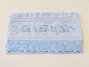 Toalha Para Lavabo Kids Azul Baby - 57089