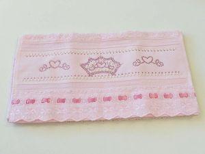 Toalha Para Lavabo Kids Rosa Coroa - 57085
