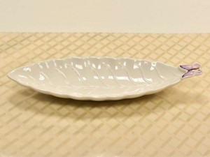 Travessa Em Porcelana Borboleta Média - 10558