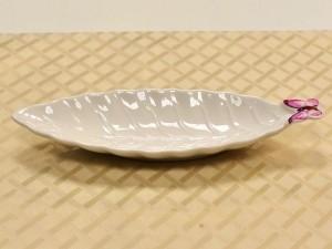 Travessa Em Porcelana Folha Borboleta Pequena - 10559