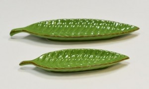 Travessa Folha Verde  - 26,4 cm - Ref 55799