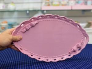 Travessa Oval Em Cerâmica Com Laços -  55164