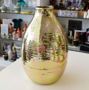 Vaso De Cerâmica Petrus Bronze Alto - 57339