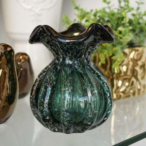 Vaso De Murano Verde Em Murano Trouxinha - 58285