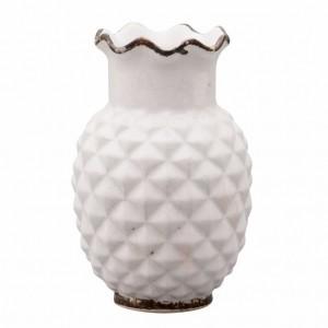 Vaso em cerâmica em formato de abacaxi 15 cm 53307