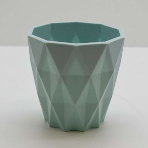 Vaso Geométrico Azul De Plástico - 58245