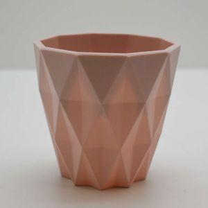 Vaso Geométrico Rosa De Plástico - 58244