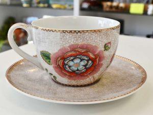 Xícara De Chá Com Pires Branco Spring To Life Pip Studio - 55147