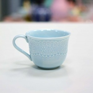 Xícara De Chá Em Porcelana Princess Azul - 55031
