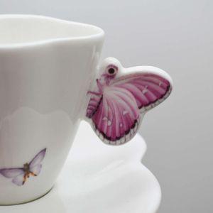 Xicara Para Café Em Porcelana Borboletas Wolff 100ml - 58523