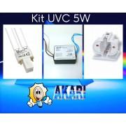 Kit Germicida 5W, Lâmpada HNS 5W + Reator + Soquete