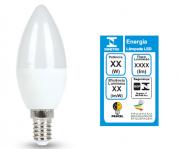 Lâmpada LED Vela Balão 4,8W Rosca E14 450lm 3000K