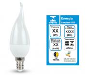 Lâmpada LED Vela Chama 4,8W Rosca: E14 450lm 3000K